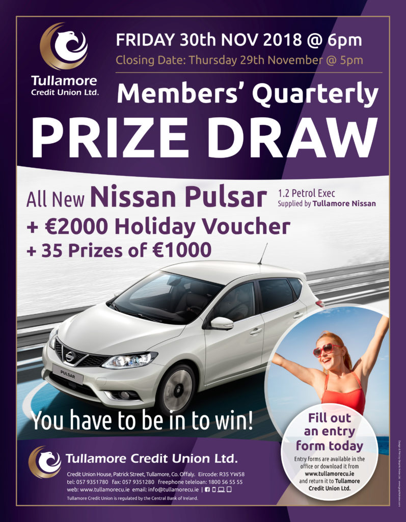 And the winner is     – Tullamore Credit Union